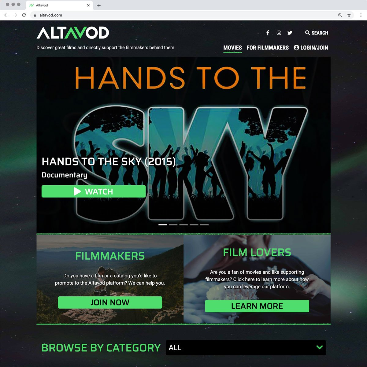 Altavod Web Design - Desktop