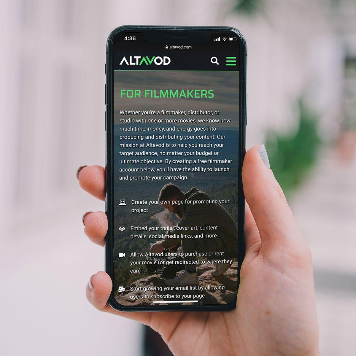 Altavod Web Design - Mobile