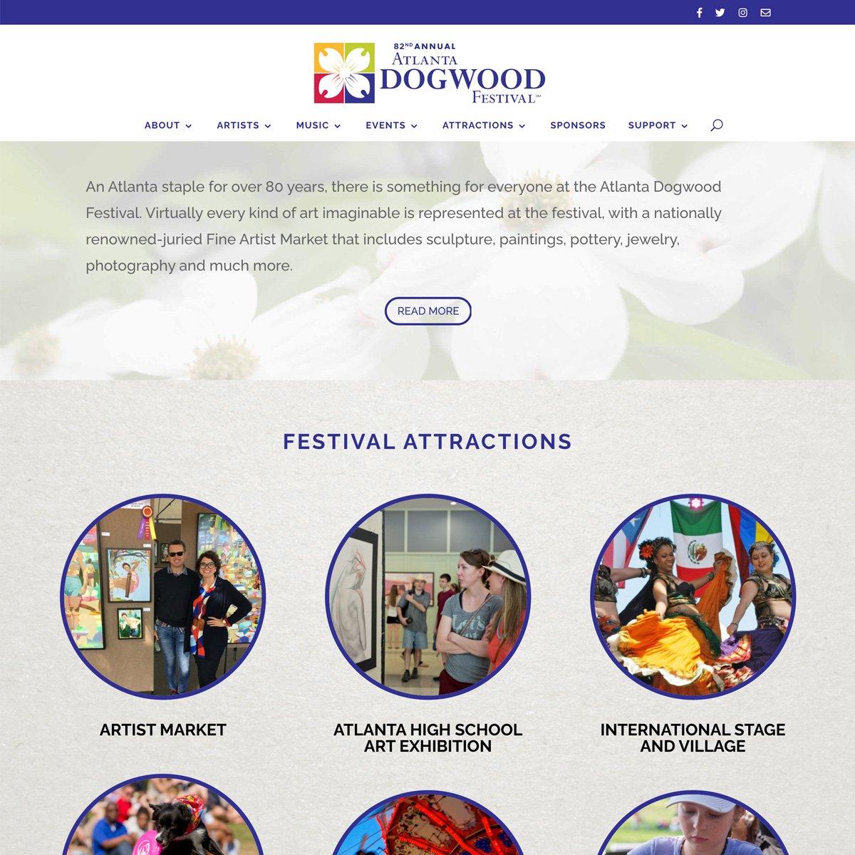AtlantaDogwood Festival Web Design - Desktop