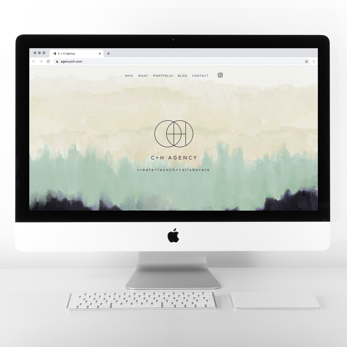 C + H Agency Web Site Design - Desktop