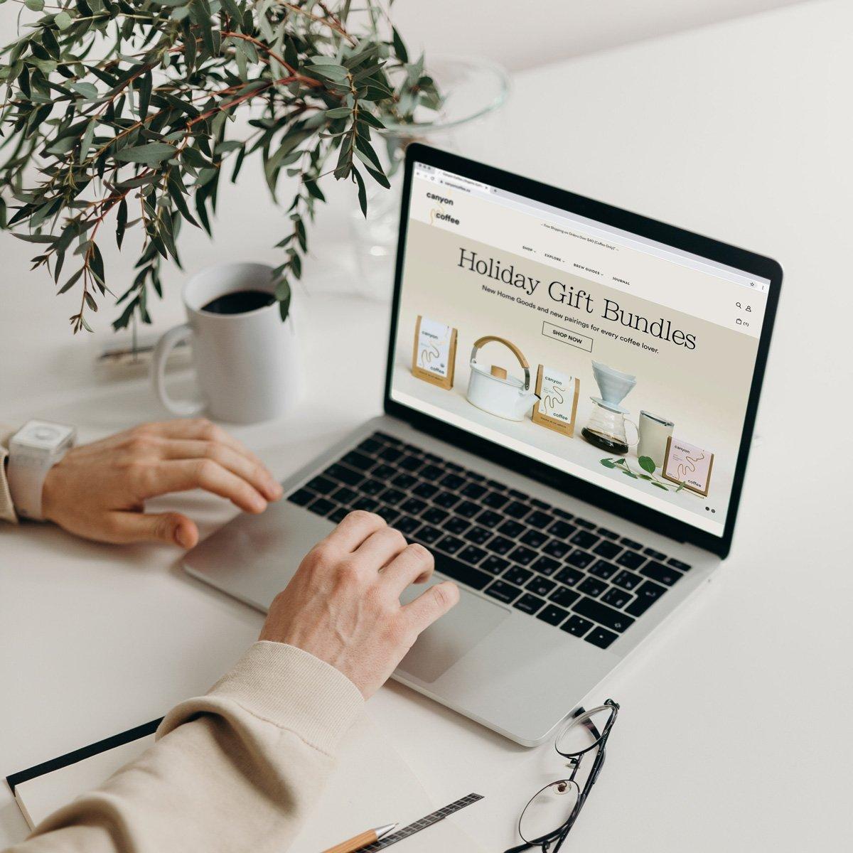 Canyon Coffee Web Design - Laptop