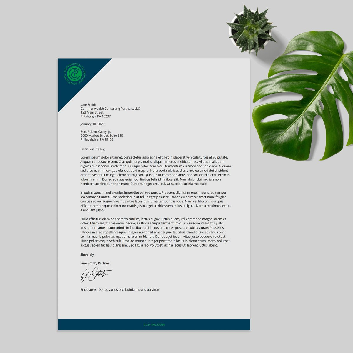Commonwealth Consulting Partners Stationary