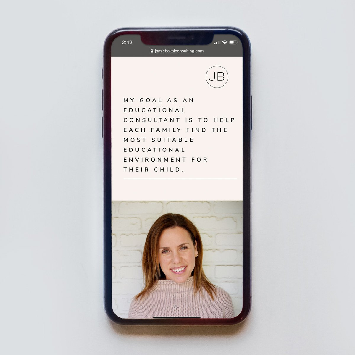 Jamie Bakal, Web Design - Mobile
