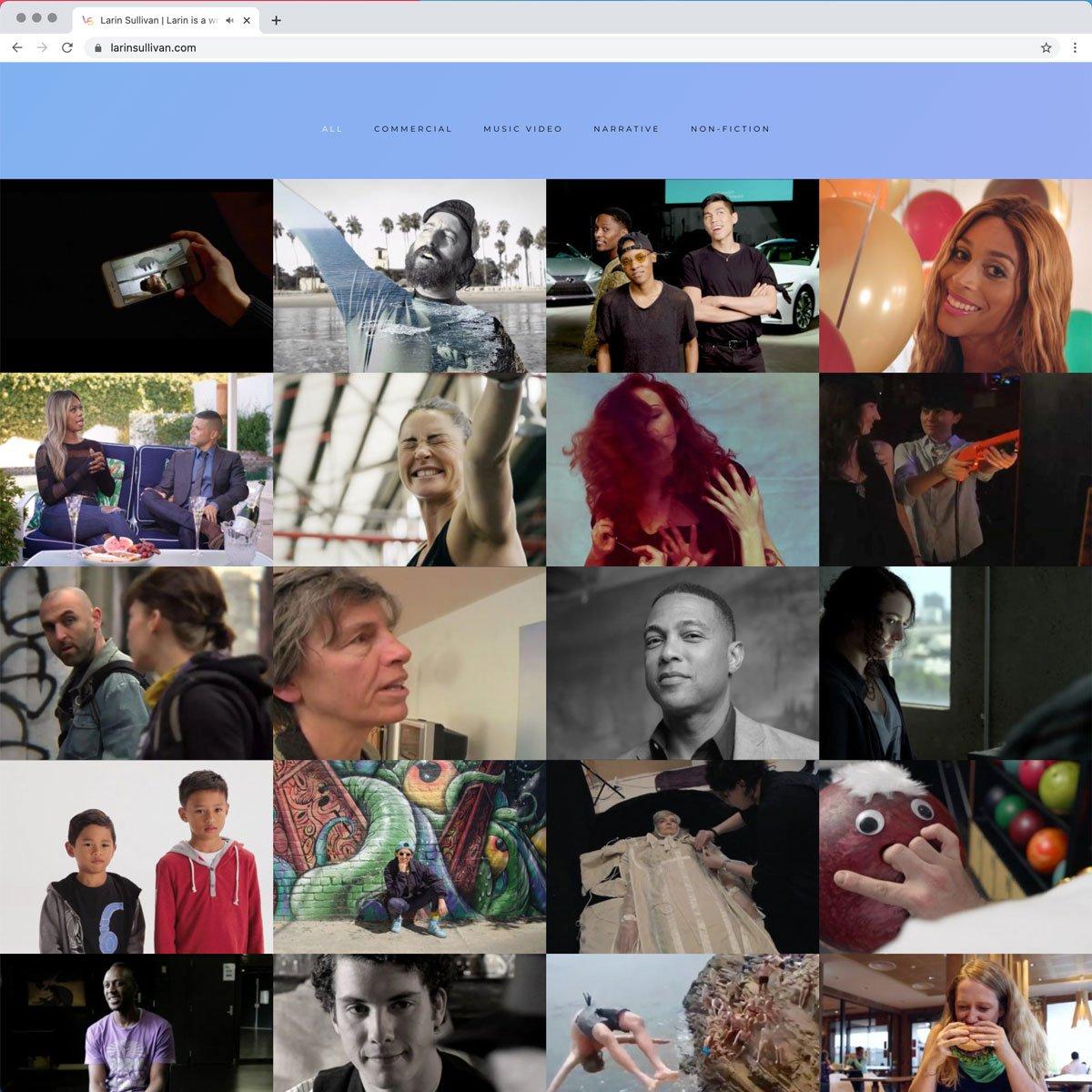 Larin Sullivan Web Design - Desktop