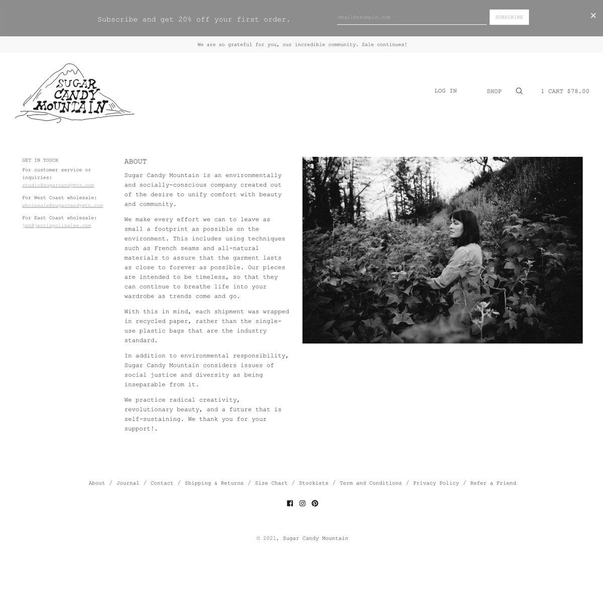 Sugar Candy Mountain Web Design - Desktop